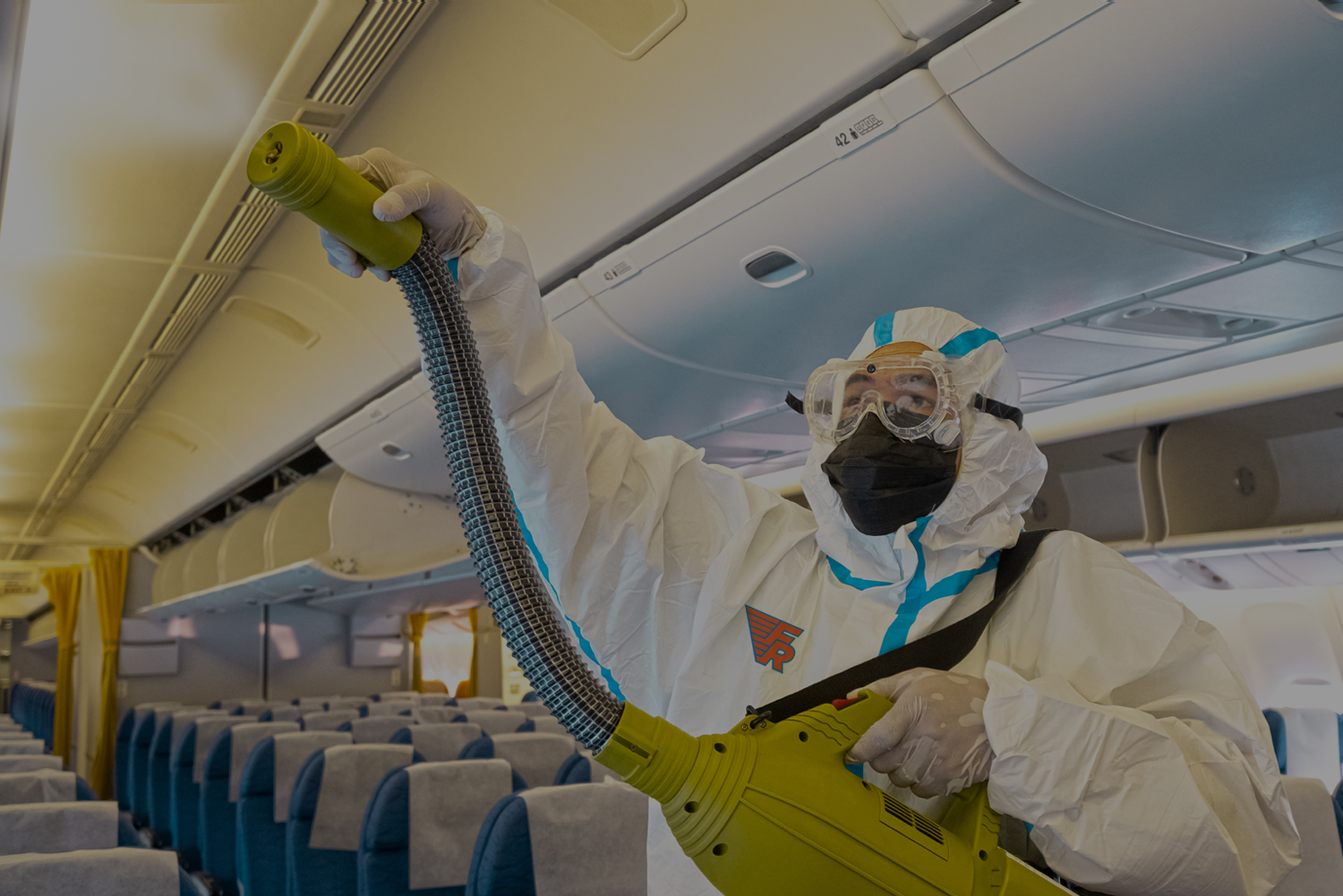 Faragon Restoration Ltd. Transportation Clients, Airplane Biohazard Cleaning, COVID-19 Mitigation